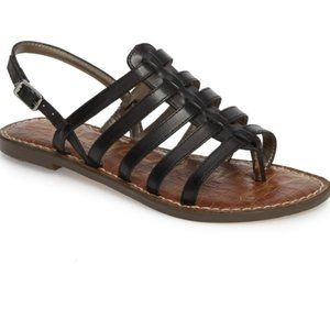 Sam Edelman Garland Leather Sandals Black 7.5 NWT